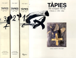 タピエス全作品集1~3揃 Tapies: The Complete Works vol.1~vol.3 1943-1975/Anna Agusti