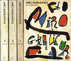 ミロ銅版画集 1〜3 Miro Engravings 1928-1975/Jacques Dupin