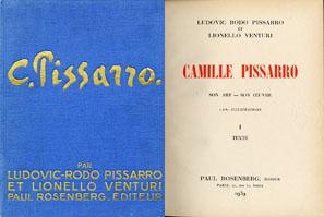 ピサロ レゾネ Camille Pissarro Son Art-Son Oeuvre 1632 Illustrations I Texte,II Planches 2冊組/Ludovic Rodo Pisaro, Lionello Venturi