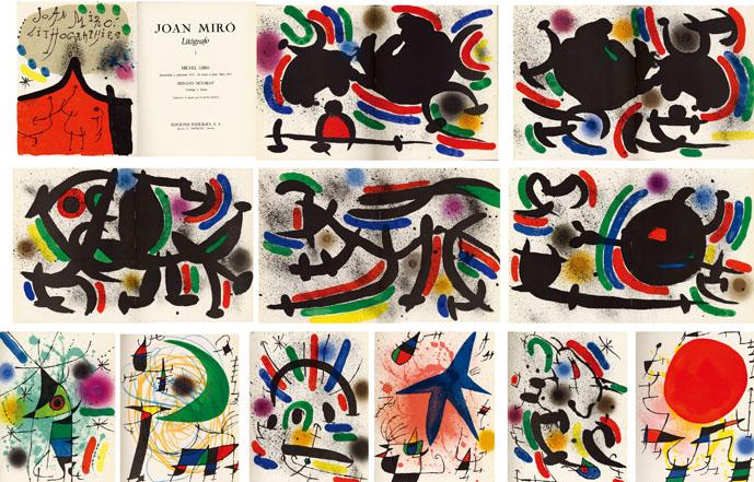 ジョアン・ミロ Joan Miro: Lithographs Volume1/Michel Leiris/ Fernard Mourlot