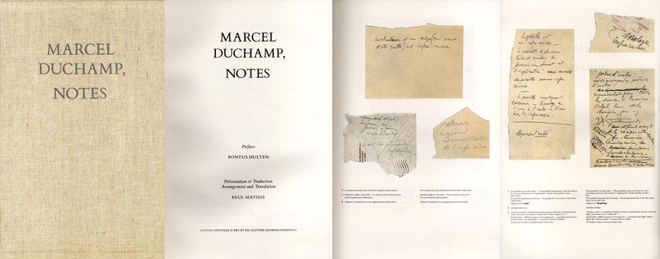 マルセル・デュシャン ノート Marcel Duchamp, Notes/Paul Mattisse