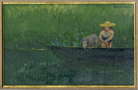 鴨居羊子画額「夏の日」/Yoko Kamoi