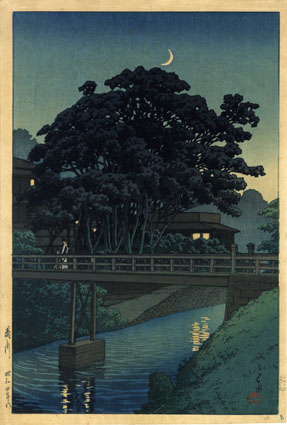 川瀬巴水版画額「滝野川」/Hasui Kawase