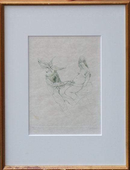 ハンス・ベルメール版画額「L'Amour」/Hans Bellmer