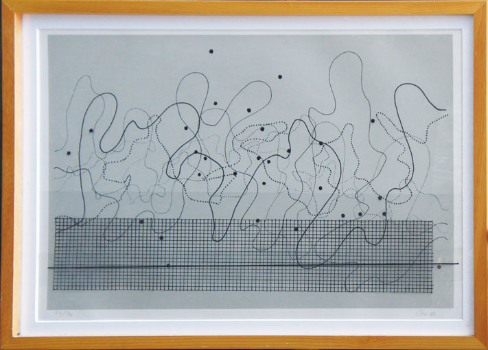 ジョン・ケージ版画額 「fontana mix #3」/John Cage