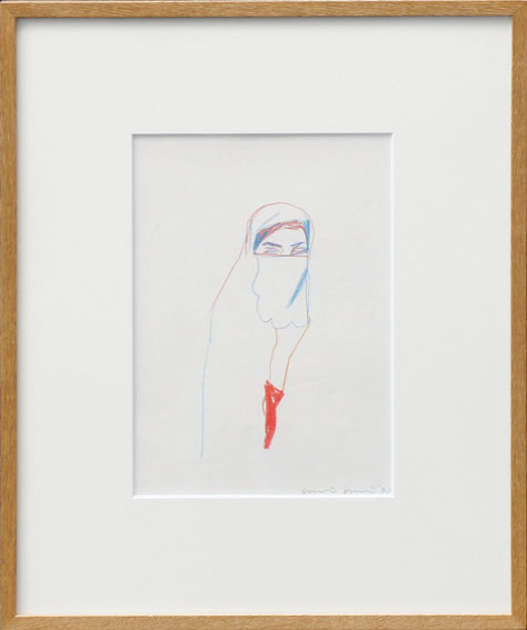 大竹伸朗画額「女性像」/Shinro Ohtake