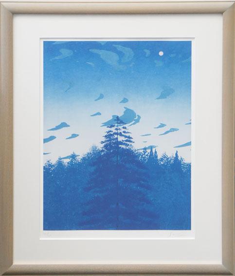 千住博版画額「森林」/Hiroshi Senju