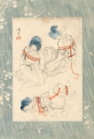 伊藤晴雨画稿「縛りの形態(仮題)4」/Seiu Ito