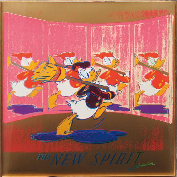 アンディ・ウォーホル版画額「The New Spirit(Donald Duck)」/Andy Warhol