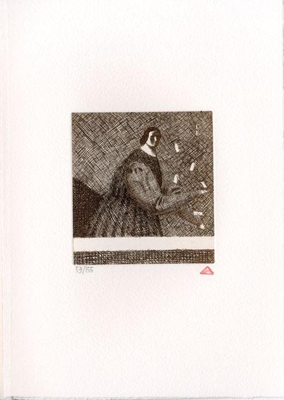 有元利夫版画額「『雲の誕生』より No.27」/Toshio Arimoto