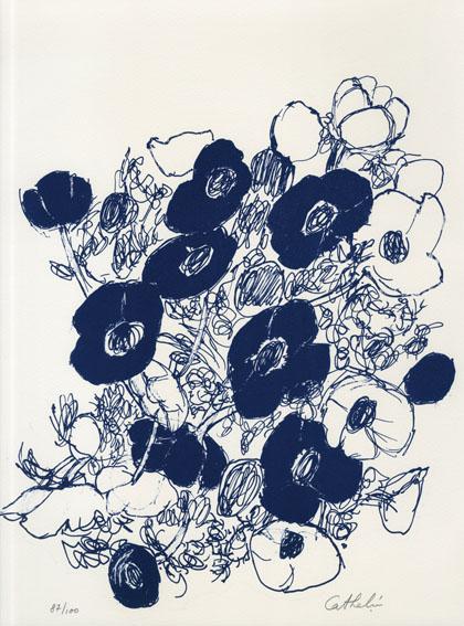 ベルナール・カトラン版画「花」2/Bernard Cathelin