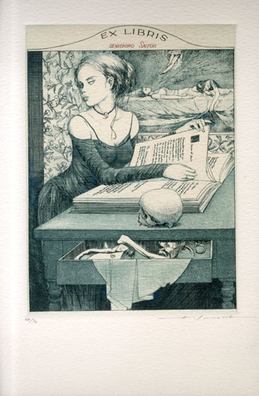 アルフォンス・イノウエ版画「蔵書票24」/Alphonse Inoue