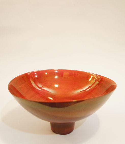青木良太陶器「赤金瓷」/Ryota Aoki