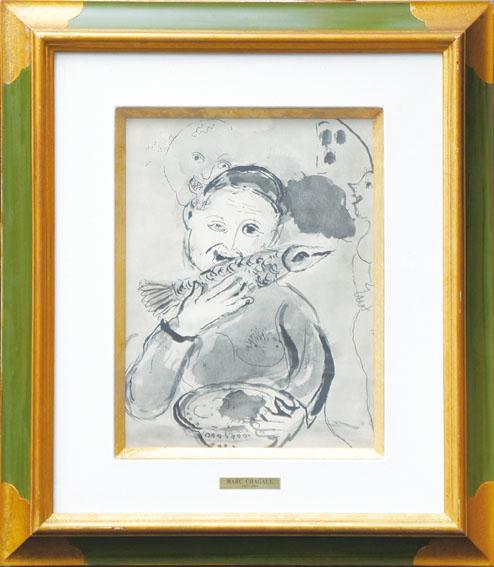 マルク・シャガール版画額「ボッカチオ物語16」/Marc Chagall