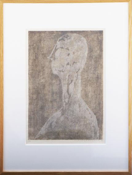 横山貞二版画額「塑像」/Teiji Yokoyama