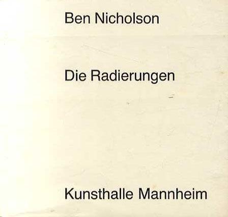 ベン・ニコルソン Ben Nicholson: Die Radierungen/
