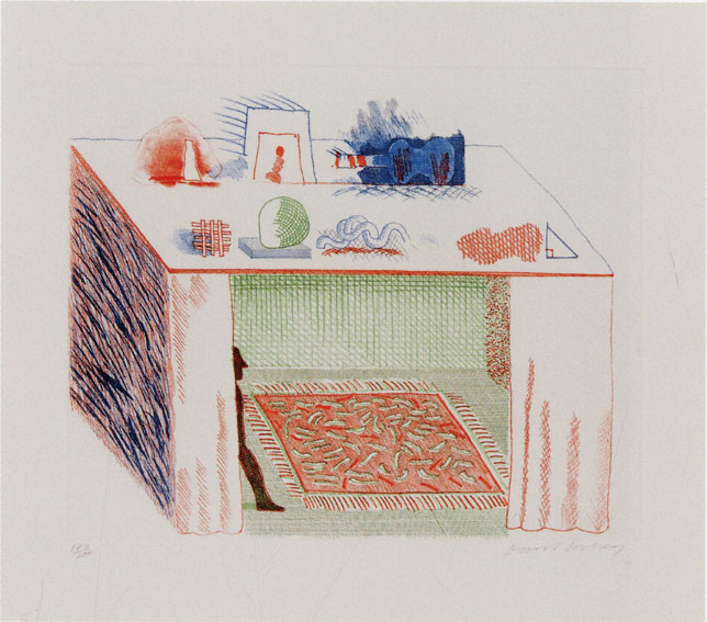 デイヴィッド・ホックニー版画「In a Chiaroscuro」/David Hockney