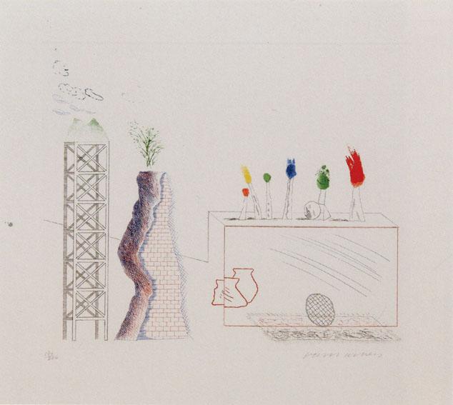 デイヴィッド・ホックニー版画「A Tune」/David Hockney
