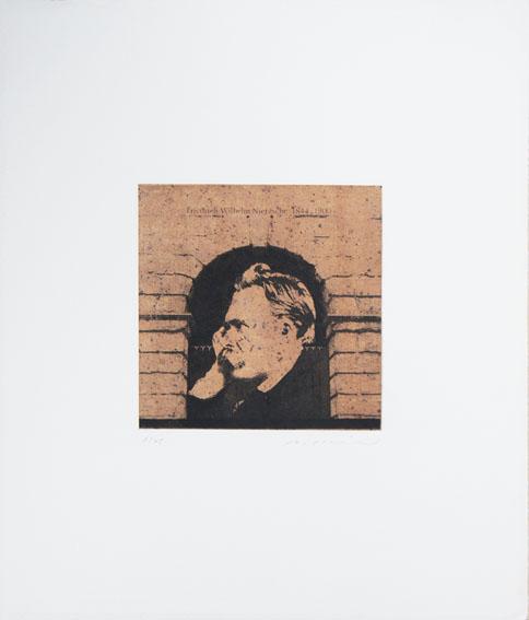 池田良二版画「Friedrich Wilhelm Nietzsche 1844-1900」/Ryoji Ikeda