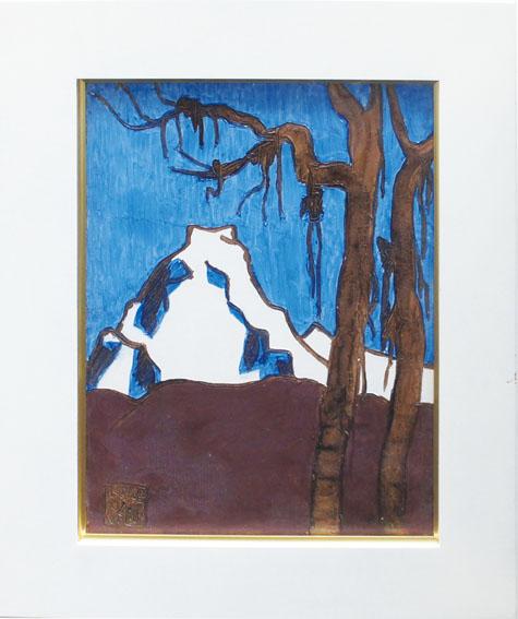熊谷榧画額「やどり木の木の間から」/Kai Kumagaya