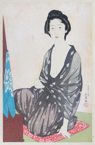 橋口五葉版画「夏衣の女」/Goyo Hashiguchi