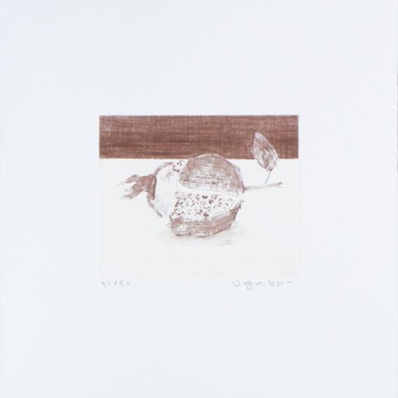 大藪雅孝版画「ざくろ」/Masataka Ohyabu
