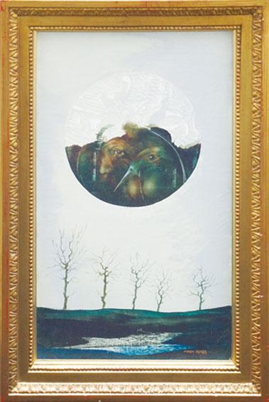 麻田浩画額「浮上する」/Hiroshi Asada