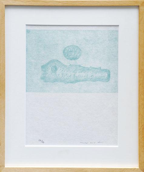 マックス・エルンスト版画額「Lewis Carrolls Wunderhorn XXXV」/Max Ernst