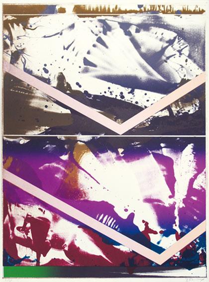 加納光於版画「Illimination-18」/Mitsuo Kano