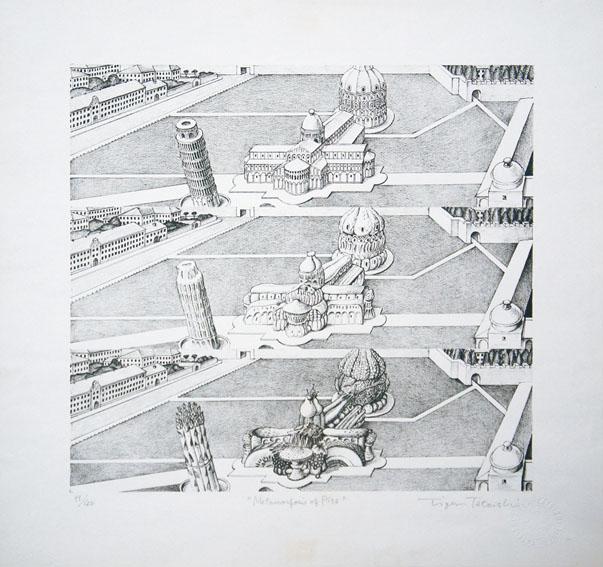タイガー立石版画額「Metamorphosis of Pisa」/Tiger Tateishi
