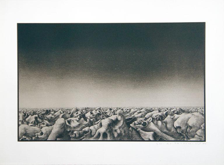 辰巳四郎版画「死の谷」/Shiro Tatsumi