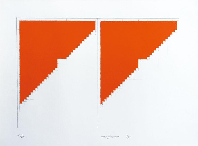 高松次郎版画「平面上の平面」「平面上の平面」/高松次郎