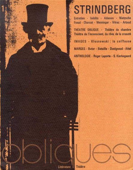 オブリック ストリンドベルグ特集 Obliques: Strindberg/