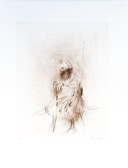 平野遼版画「カスパの老人」/Ryo Hirano