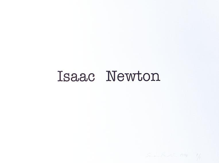 サイモン・パターソン版画「Isaac Newton」/Simon Patterson