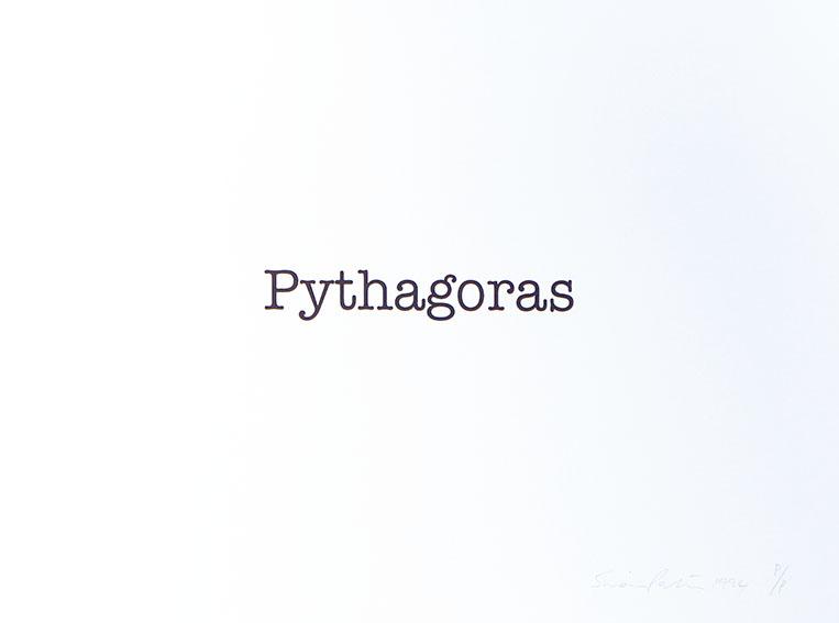 サイモン・パターソン版画「Pythagoras」/Simon Patterson