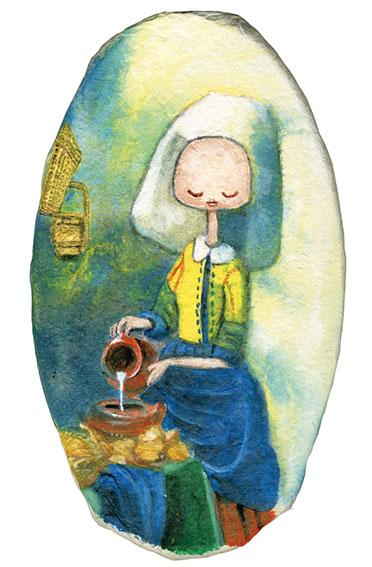 細川真希作品「牛乳を注ぐ女のように」/Maki Hosokawa