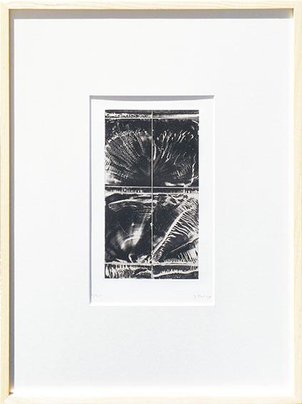 加納光於版画額「引潮-ユーグリッドへ II」/Mitsuo Kano