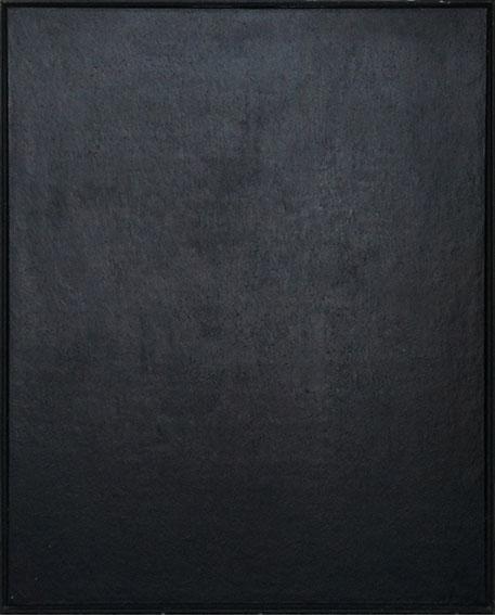 村上友晴画額「無題 Black Painting」/Tomoharu Murakami