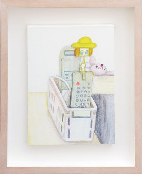 細川真希画額「It's a small world リモコン」/Maki Hosokawa