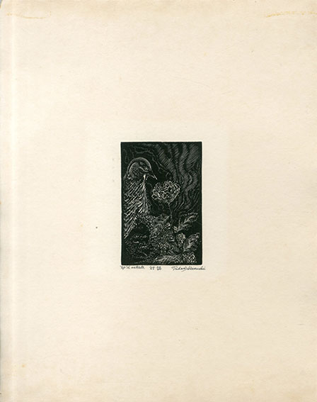 日和崎尊夫版画「対話」/Takao Hiwasaki