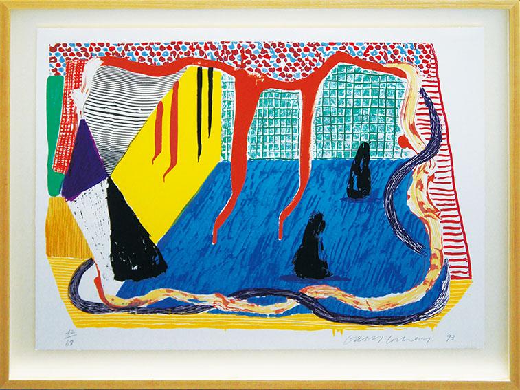 デイヴィッド・ホックニー版画額「Ink In The Room」/David Hockney