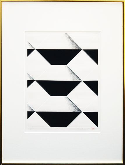 関根美夫版画額「ソロバン 483-S」/Yoshio Sekine