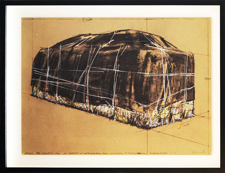 クリスト版画額「Packed Hay」/Christo