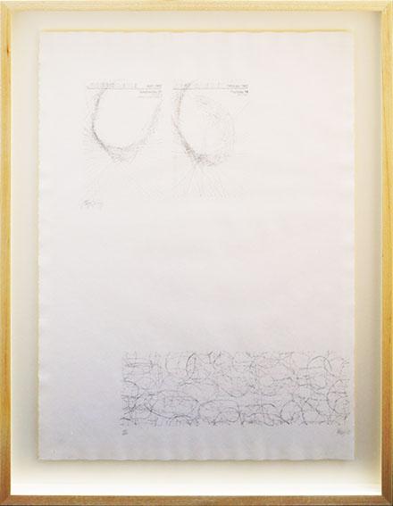 ヨーゼフ・ボイス/ジョン・ケージ版画額「Orwell-Blatt」/Joseph Beuys/John Cage