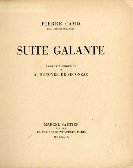 Suite Galante/Pierre Camo Andre Dunoyer de Segonzac画