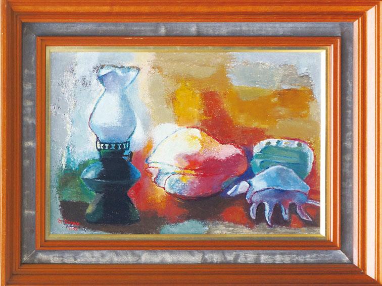 寺田政明画額「貝之の思慕 ランプと貝」/Masaaki Terada