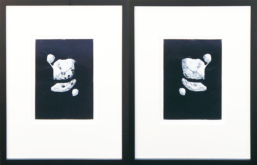 瀧口修造画額「デカルコマニーIII」2面組/Shuzo Takiguchi