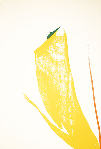 ヘレン・フランケンサーラー版画額(2)「What Red Lines Can Do」より/Helen Frankenthaler