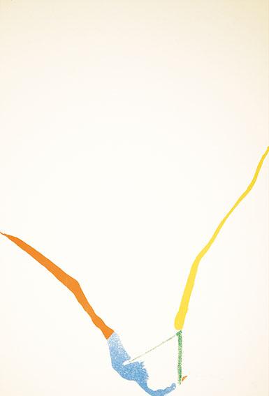 ヘレン・フランケンサーラー版画額(3)「What Red Lines Can Do」より/Helen Frankenthaler